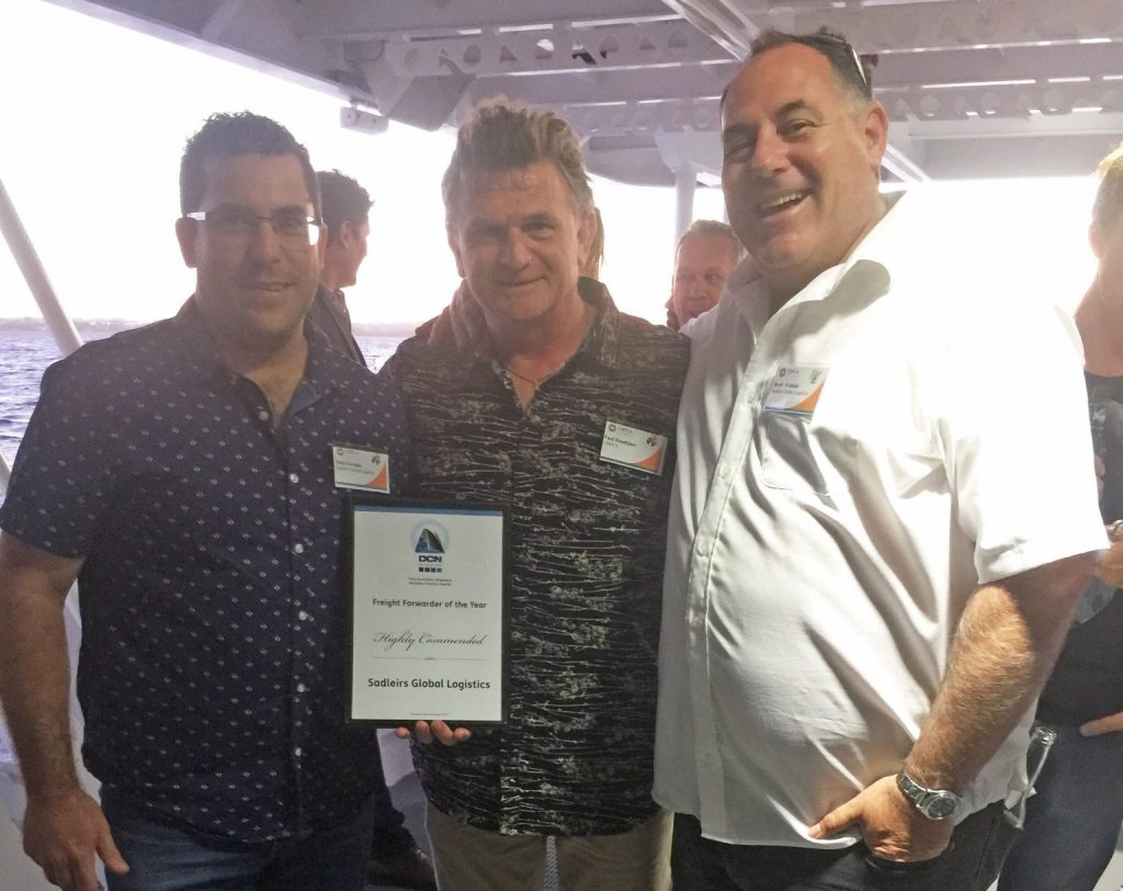 Sadleirs proudly accept national recognition as Freight Forwarder of the Year